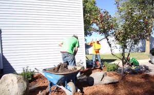 landscaping gardener